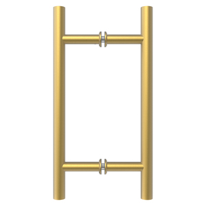 """Satin Brass 8"""" Ladder Style Back-to-Back Pull Handles"""