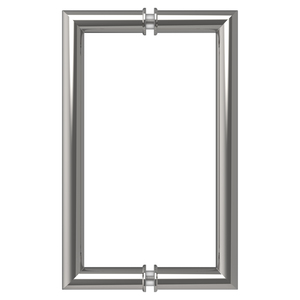 """CRL MT8X8CH Polished Chrome 8"""" MT Series Round Tubing Mitered Corner Back-to-Back Pull Handle"""