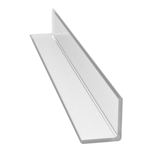 "CRL P12LJ Multi-Purpose Clear 'L' Angle Jamb Seal for 1/4"" to 1/2"" Glass - 95"" Stock Length"