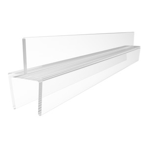 "CRL P501BR One-Piece Bottom Rail With Clear Wipe for 3/8"" Glass - 95"" Stock Length"