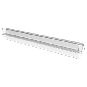 "CRL P914WS Clear Co-Extruded Bottom Wipe with Drip Rail for 1/4"" Glass - 95"" Stock Length"
