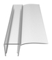 """CRL PC1090 3/8"""" Polycarbonate 'U' with 90 Degree Vinyl Finseal - 95"""" Stock Length"""