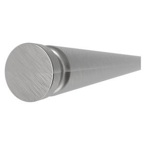 "Brushed Stainless 72"" Tube with (1) End Cap"