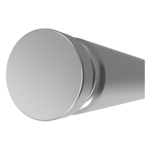 """CRL TUBE3472PS Polished Stainless 72"""" Tube with One End Cap"""