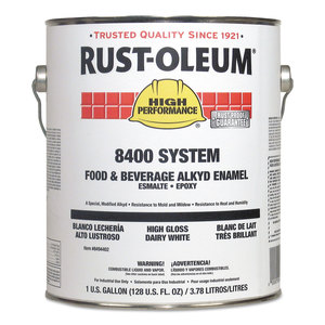 Rust-Oleum RST8494402 8400 System Food and Beverage Alkyd Enamel, 1 gal, Dairy White, 2/Carton