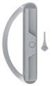"CRL C1225 White Sliding Glass Door Handle Set with 3-15/16"" Screw Holes"