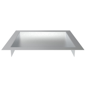 "Brixwell CDT1110B Brushed Stainless Steel 11"" Wide x 10"" Deep x 1-9/16"" High Standard Drop-In Deal Tray"