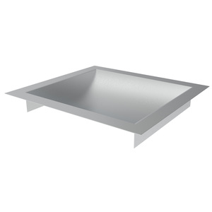 """Brixwell CDT1110B Brushed Stainless Steel 11"""" Wide x 10"""" Deep x 1-9/16"""" High Standard Drop-In Deal Tray"""
