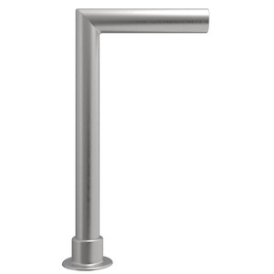 CRL SG925BS Brushed Stainless Elegant Series Glass on Front and Top Shelf Sneeze Guard - Right Hand End Post Only
