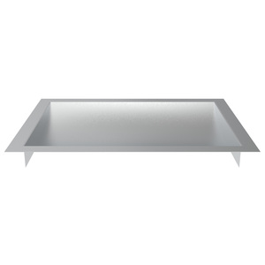 "Brixwell CDT1612B Brushed Stainless Steel Recessed Drop-In Deal Tray 16"" Wide X 12"" Deep X 1-9/16"" High"