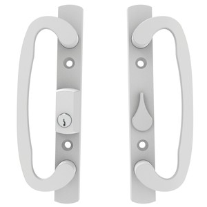Brixwell 13-245WK White Amesbury truth Sash Controls Patio Door Handle sets