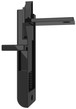 Brixwell 83-624BA Black Better-Bilt 83 Series Top And Side Mounted Slide/Tilt Latch - pack of 5