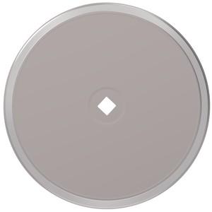 "Brixwell 900-10221SNK 2-3/4"" (Di) Metal Closet Cabinet Knob Round Backplate Satin Nickel"