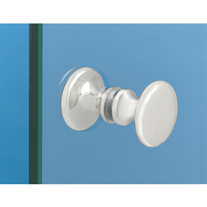 Brixwell KTBTBSA Traditional Series Glass Shower Door Knob Back To Back Mount Satine