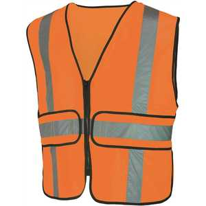 HDX HDX46501-O High-Visibility Orange Reflective Safety Vest