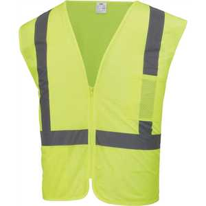 HDX HDX46502-O High-Visibility Yellow Reflective Safety Vest