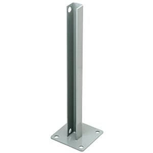CRL PSB1BAGY Agate Gray AWS Steel Stanchion for 180 Degree Round or Rectangular Center or End Posts