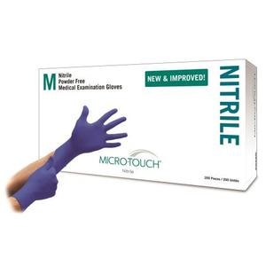 ANSELL 6034300 Micro-Touch Nitrile Exam Gloves Extra Small - 200/box