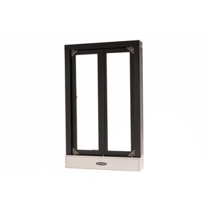 "Quikserv CM-9020-BX Manual Transaction Window 24"" W x 38-1/2"" H Dark Bronze"