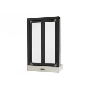 "Quikserv FM-9001-BX Flush Mounted Semi Automatic Pass-Thru Window With Bi-Fold Doors 24"" W x 38-1/2"" H Dark Bronze"