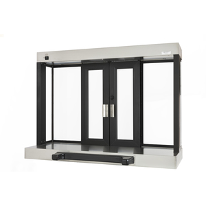 "Quikserv PW-9039-BX Fully Automatic Bi-Parting Pass-Thru Electric Slider Window Projected Window 53-1/2"" W x 40"" H Dark Bronze"