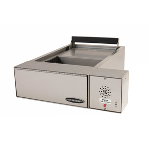 "Quikserv QST-9132 Drive-Thru Transaction Drawer With 15 Inches Exterior Edge Without Speaker 20-3/4"" W x 6-1/4"" H Stainless Steel"