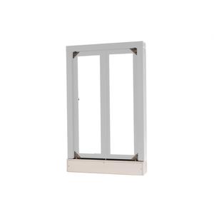 "Quikserv CM-9021-CX Manual Transaction Window 24"" W x 38-1/2"" H Clear Anodized Aluminum"