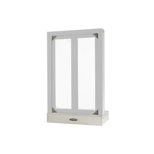 "Quikserv FM-9002-CX Flush Mounted Semi Automatic Pass-Thru Window With Bi-Fold Doors 24"" W x 38-1/2"" H Clear Anodized Aluminum"