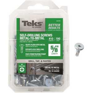 Tek 21376 #10 x 5/8 in. Phillips Pancake Head Self Drilling Screws - pack of 190
