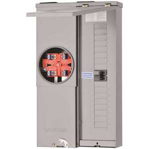 Square D SC1624M100S Homeline 100 Amp 16-Space 24-Circuit Outdoor Ring-Type Overhead/Underground Surface Mount Main Breaker CSED