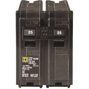 Square D HOM225CP Homeline 25 Amp 2-Pole Circuit Breaker