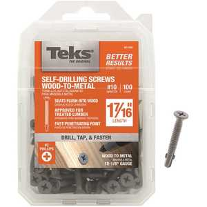 Tek 21380 #10 x 1-7/16 in. Philips Flat Head Self Tapping with Wings Screws - pack of 100