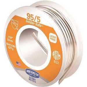 Worthington 331901 8 oz. 0.118 in. 95/5 Lead-Free Solder