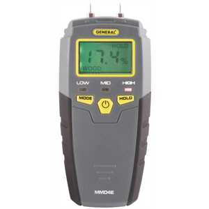 GENERAL TOOLS MANUFACTURING MMD4E Pin-Type Digital Moisture Meter with LCD Display