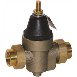 Watts 3/4 LFN45BM1-DU Pressure Reducing Valve with Bypass Feature, FIP, 3/4 in., 50 psi, lead free