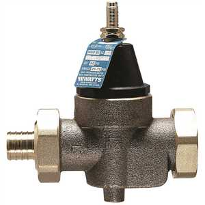 Watts 3/4 LFN45BM1-DU-PEXXPEX PRESSURE REDUCING VALVE WITH BYPASS FEATURE, PEX, 3/4 IN., 50 PSI, LEAD FREE