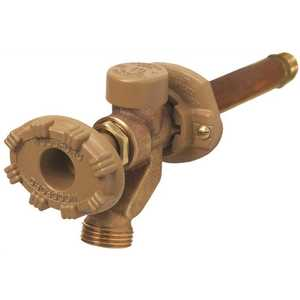 WOODFORD MFG. 19CP-6 1/2 in. x 1/2 in. Brass Sweat x MPT x 6 in. L Freeze-Resistant Anti-Rupture Sillcock Valve