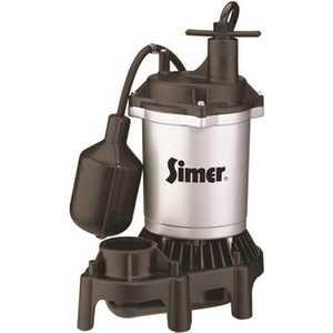 SIMER 2163 1/3 HP Submersible Sump Pump Thermoplastic