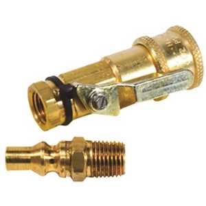 Mr. Heater F276181 Quick Connector Kit with Shut-Off Valve and Full Flow Male Plug