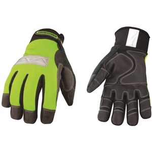 YOUNGSTOWN GLOVE COMPANY 08-3710-10-L Large Safety Lime Waterproof Winter Gloves