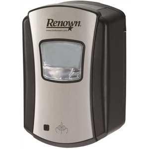 Renown REN02474 700 ml Chrome/Black EFA Touch-Free Foam Hand Soap Dispenser