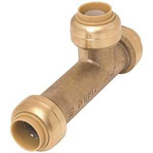 Cash Acme U3370LF 3/4 in. Brass Push-to-Connect Slip Tee Fitting