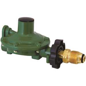 MEC MEGR-230-9 Single Stage Regulator 11 in. WC 0.9 GPM Excess Flow POL Inlet x 3/8 in. FNPT Replaces 23090