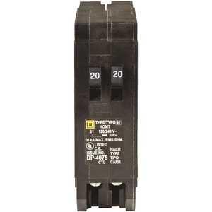 Square D HOMT2020CP Homeline 2-20 Amp Single-Pole Tandem Circuit Breaker