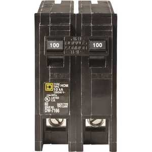 Square D HOM2100C Homeline 100 Amp 2-Pole Circuit Breaker - Clear Packaging