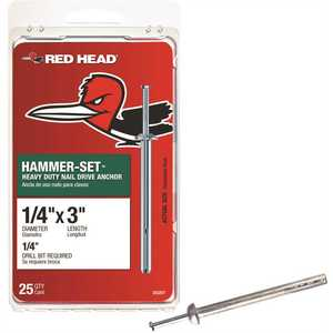 Red Head 35207 1/4 in. x 3 in. Hammer-Set Nail Drive Concrete Anchors