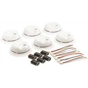 BRK Brands 9120B6CP 120-Volt Hardwire Ionization Sensor Smoke Alarm with Battery Backup - pack of 6