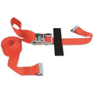 SNAP-LOC SLTE216RRI 16 ft. x 2 in. Logistic Ratchet E-Strap with Hook and Loop Storage Fastener in Red