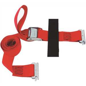 SNAP-LOC SLTE208CR 8 ft. x 2 in. x 8 ft. Logistic Cam E-Strap with Hook and Loop Storage Fastener in Red