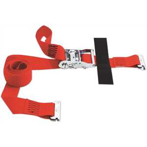 SNAP-LOC SLTE208RR 8 ft. x 2 in. Logistic E-Strap with Ratchet in Red
